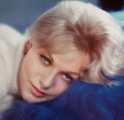 Kim Novak Metal Prints - Kim Novak Blue Metal Print by Day Dreams Day Dreams