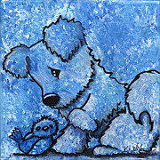 Cartoon Drawings Originals - Kimpressions - Bird Dog by Kim Niles