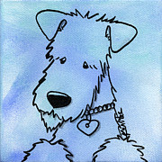 Wire Drawings Prints - Kimpressions - Terrier Print by Kim Niles