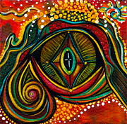 Sacred Art Paintings - Kindness Spirit Eye by Deborha Kerr