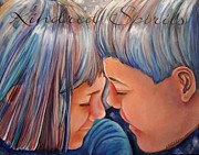 Tender Moment Framed Prints - Kindred Spirits II Framed Print by Carol Allen Anfinsen