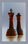 Chess Piece Digital Art Posters - King And Queen Poster by Rob Hans