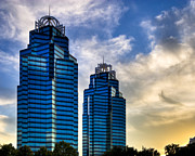Mark Tisdale Metal Prints - King and Queen Towers - Atlanta Metal Print by Mark E Tisdale