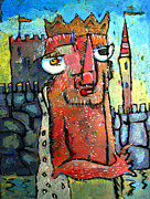 Son Paintings - KIng David Hiding from Absalom by Charlie Spear