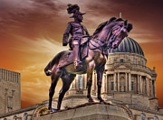 Liverpool Prints - King Edward V11 In Bronze Print by Wobblymol Davis