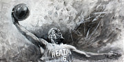 Mr. Basketball Framed Prints - King James Lebron Framed Print by Ylli Haruni