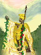 Hawaiian Art Pastels Prints - King Kamehameha Festival Print by William Depaula