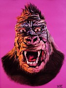 King Pastels Originals - King Kong by Brent Andrew Doty
