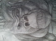 King Kong Drawings - King Kongs self portrait by Eleazar Hernandez