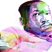 Martin Luther King Jr Digital Art Prints - King Print by Lisa McKinney
