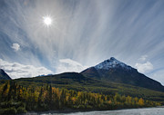 Alaska Prints Photos - King Mountain in Fall by Chris Lindner