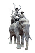Printed Photo Originals - King Naresuans war elephant. by Pajaree Khongyaem