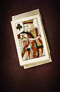 Playing Cards Framed Prints - King of Clubs Framed Print by Margie Hurwich
