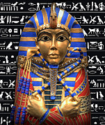 Egyptian Mummy Prints - KING of EGYPT Print by Daniel Hagerman