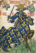 Fleece Posters - King of France Poster by Unknwon