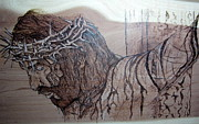 Christ Pyrography Prints - King of Kings Print by Cindy Jo Burleson