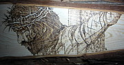 Wood Burning Pyrography Prints - King of Kings II Print by Cindy Jo Burleson