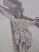Crucifixtion  Art - King of Love by Diane Stamp