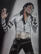 Mj Painting Posters - KIng OF Pop Poster by Demitrius Roberts