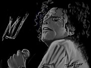 Mj Digital Art Prints - King Of Pop Print by Twinfinger