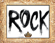 Typography Licensing Framed Prints - King of Rock Framed Print by Anahi DeCanio