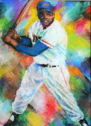 Baseball Pastels Prints - King of Swing Print by Charles Ambrosio