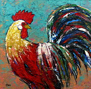 Vickie Fears Prints - King of the Barnyard Print by Vickie Fears