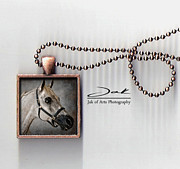 Horse Art Jewelry - King of the Desert Handcrafted Pendant by Jak of Arts Photography
