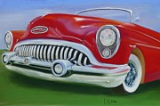 1950s Cars Painting Framed Prints - King of the Road Framed Print by Leah  Welch