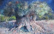 Anastasi Prints - King Olive Tree Print by Paskalis Anastasi