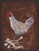 St Barbara Framed Prints - King Richard the Rooster Framed Print by Barbara St Jean