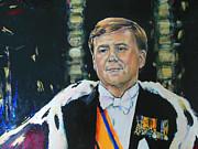 King Willem Alexander Print by Lucia Hoogervorst