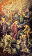 Kingdom Of Heaven Posters - Kingdom of Heaven and Hell Poster by Evelyn de Morgan
