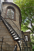 Cobbs Hill Prints - Kings Chapel Staircase Print by Deborah Smolinske