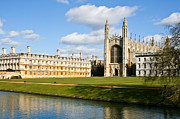 Backs Prints - Kings College Cambridge Print by Tom Gowanlock