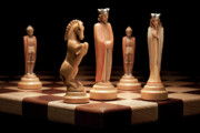 Chess Set Prints - Kings Court I Print by Tom Mc Nemar