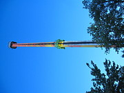 Kings Dominion - Drop Tower - 12126 Print by DC Photographer