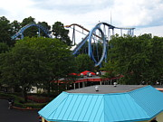 Shock Photo Prints - Kings Dominion - Shockwave - 12121 Print by DC Photographer