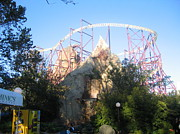 Kings Dominion - Volcano - 01132 Print by DC Photographer