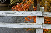 Kingston Prints - Kingston Canal Fence Print by Steven Richman