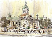 City Hall Painting Framed Prints - Kingston Market Square Framed Print by David Gilmore