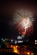 Kingston City Hall Prints - Kingston New Years Eve Fireworks Print by Paul Wash