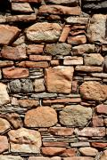 Wall Stone Wall Prints - Kinishba Masonry Print by Joe Kozlowski
