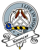 Genealogy Prints - Kinnear Clan Badge Print by Heraldry