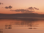 Kinneret Ripples At Dusk Print by Noreen HaCohen