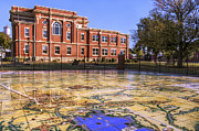 Lawmen Prints - Kiowa County Courthouse with Mural - Hobart - Oklahoma Print by Jason Politte