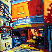 Alleyway Paintings - Kirkland Ave.  by Caleb Colon