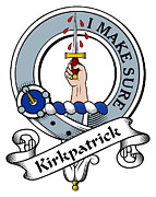 Genealogy Prints - Kirkpatrick Clan Badge Print by Heraldry
