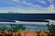 City Scape Paintings - Kirra Point   Australia by Marty  Calabrese