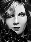 Andrew Harrison Art - Kirsten Dunst by Andrew Harrison